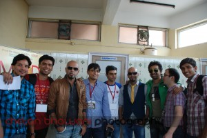 Bloggers with Rajiv, Raghu & Rannvijay at MTV Roadies 9 Auditions in Hyderabad, 2011
